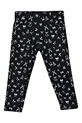 Chalk by Pantaloons Girl's Regular Fit Jegging(205000005619830, Black, 5-6 Years)