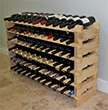 Stackable Wine Rack-72 Bottles Modular Hardwood Wine Racks, Very Easy to Put Together, WN-72