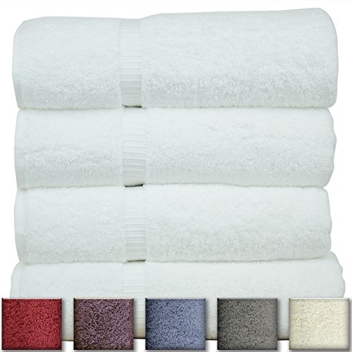 spa towel 100 genuine turkish cotton white bath towel set of 4