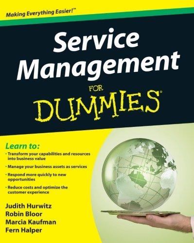 Service Management For Dummies (Service Management Dummies compare prices)