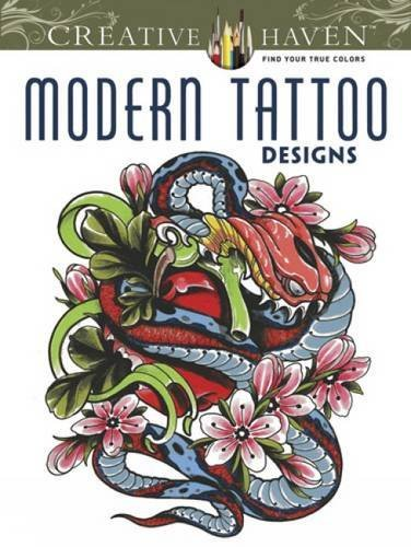 creative haven modern tattoo designs coloring book creative haven coloring books - Creative Haven Coloring Books