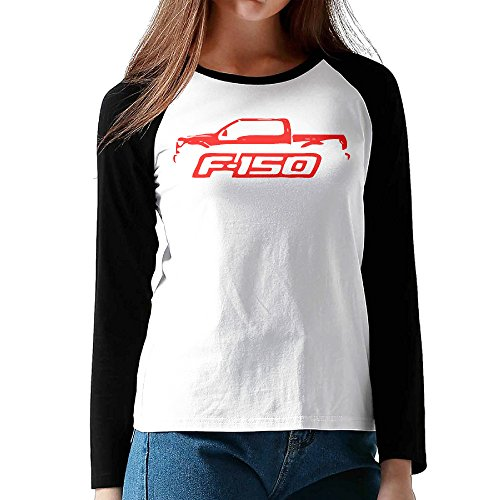 2015-16 Ford F150 Pickup Truck Women Printed Long Sleeve Raglan Shirt (Ford F150 Light Emblem compare prices)