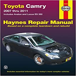 toyota camry service and repair manual 2007 to 2011 haynes service and repair manuals amazon. Black Bedroom Furniture Sets. Home Design Ideas