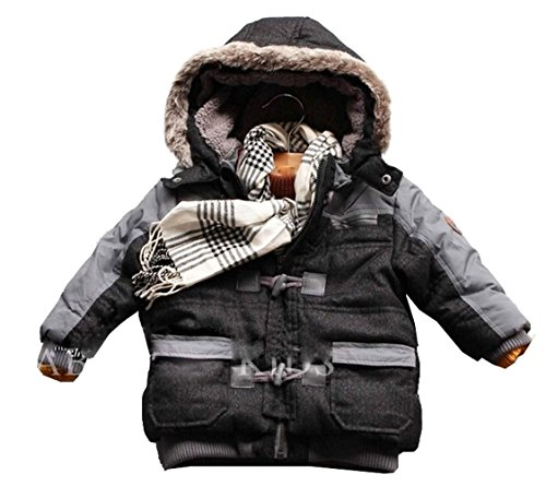 Ekoobee Infant Baby Boys Thick Winter Warn Hooded Coats Jackets (3T)