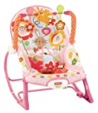 Fisher-Price Infant-To-Toddler Rocker Seat Features Two Position Recline & Kickstand - Bunny