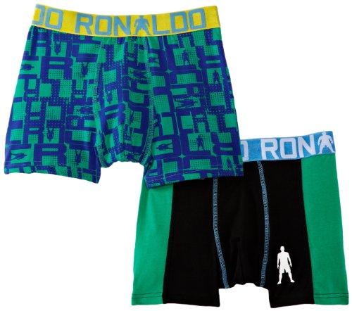 CR7 Cristiano Ronaldo - Boxer, Bambini e ragazzi, nero (Black (Black/Green/Blue)), Taglia unica