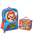 Nintendo Super Mario Red Backpack with Lunch Box