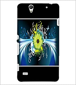 PrintDhaba Floral Pattern D-1393 Back Case Cover for SONY XPERIA C4 (Multi-Coloured)