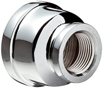 Chrome Plated Brass Pipe Fitting, Reducing Coupling, NPT Female