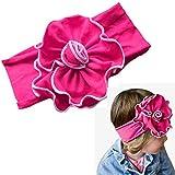 Magenta Baby Girl Flower Headband Hair Band
