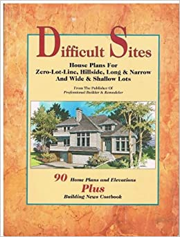 Difficult sites house plans for zero lot line for Wide shallow lot house plans