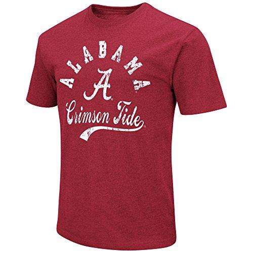 Colosseum Men's NCAA Vintage Retro Dual-Blend T-Shirt-Red-Alabama Crimson Tide-XL (College Football Alabama compare prices)