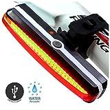 Sunspeed USB充電式LED自転車用テールライト 6モード付き 安全性高い防水ライト 明るい強力セーフティライト 軽量