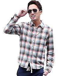 ジョーカーセレクト(JOKER Select) チェックシャツ メンズ 長袖シャツ 長袖 シャツ ネルシャツ ビエラ起毛 L オフホワイト(1)