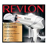 Revlon Laser Brilliance 1875W Infrared Heat Hair Dryer, White and Grey, 32 Ounce