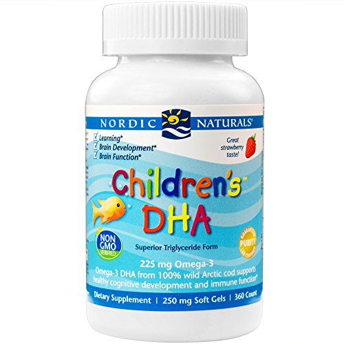 Nordic Naturals Children's DHA,Healthy Cognitive Development and Immune Function,225mg,360 Soft Gels (Child Omega 3 compare prices)