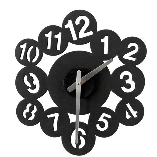 Large Modern Contemporary Black White DIY Digital Wall Clock