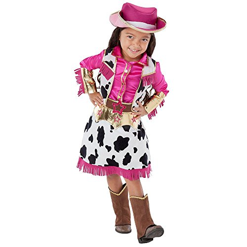Toddler Girls' 3-piece Cowgirl Western Costume, 5/6 (Old West Saloon Girl Costume)