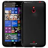 Fosmon® Nokia Lumia 1320 / Nokia Batman (DURA-FRO) TPU Slim-Fit Flexible Skin Case Cover - Fosmon Retail Packaging (Black)