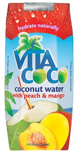 Vita Coco Coconut Water  Peach & Mango, 11.1oz