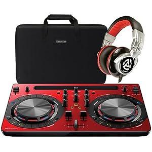 Pioneer WeGO 3 Red DJ Control & Accessory Bundle