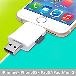 USB i-Flash Drive HD Micro SD Memory Card Reader Adapter For iPhone 5 5S 6 iPad