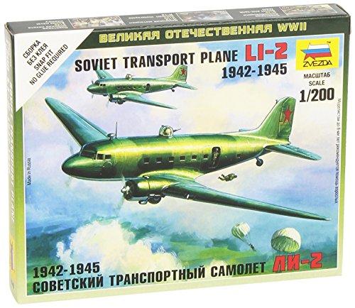 Zvezda Models 1/200 Li-2 Soviet Transport Plane - 1