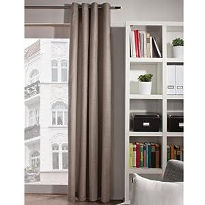 gardine vorhang store 39 florian 39 leinen blickdicht k che haushalt. Black Bedroom Furniture Sets. Home Design Ideas