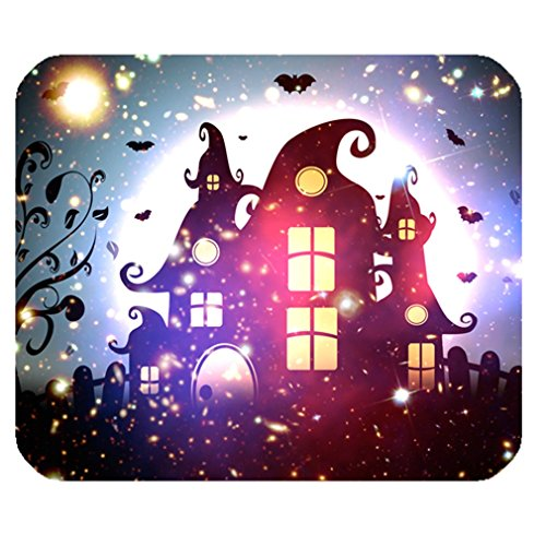 Funny Happy Halloween Elf Magic Space Nebula Galaxy Tribal Rectangle One Size Mouse Pad Mousepad