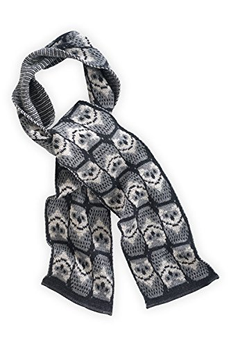 Green 3 Apparel Repeating Owl Made In Usa Scarf (Grey) front-341701
