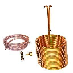 HomeBrewStuff Copper Immersion Wort Chiller 50\' X 3/8\