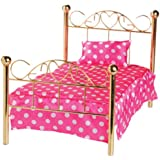 Today's Girl classic brass bed for 18 inch doll