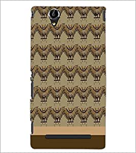 PrintDhaba Owl pattern D-1860 Back Case Cover for SONY XPERIA T2 ULTRA (Multi-Coloured)