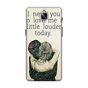 HAPPYGRUMPY DESIGNER PRINTED BACK CASE COVER FOR ONE PLUS 3 (ONE PLUS THREE)