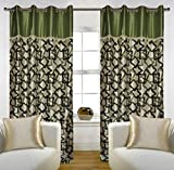 "Home Candy Eyelet Fancy Polyester 2 Piece Door Curtain Set - 84""x48"", Green (SOE-CUR-161_161)"