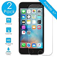 (2 Pack) iPhone 6s Screen Protector, Premium Tempered Glass [3D Touch Compatible- Crystal]…