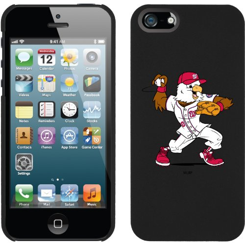 Great Price Washington Nationals - Mascot design on a Black iPhone 5 Thinshield Snap-On Case by Coveroo