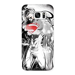 Special Steel Power Multicolor Back Case Cover for Galaxy S7 Edge