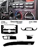 Prewoodec Cockpit Dekor f�r Chevrolet Aveo - 02.2006 - 07.2011 Carbon-Fiber (Exklusive 3D Fahrzeug-Ausstattung - Made in Germany)