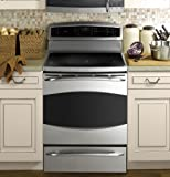 """GE PHB925STSS Profile 30"""" Stainless Steel Electric Induction Range - Convection"""