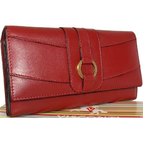 New ladies Visconti large Heritage red leather purse wallet CR7