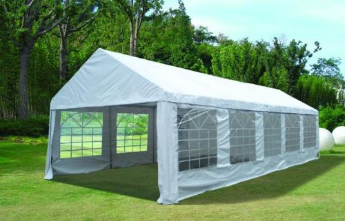 Heavy Duty 5m x 10m Waterproof Wedding Tent Marquee Gazebo Canopy Carport White