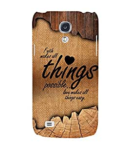 Love Makes All Things Easy 3D Hard Polycarbonate Designer Back Case Cover for Samsung Galaxy S4
