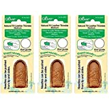Clover Medium Natural Fit Leather Thimble (3 Pack) (Tamaño: 3 Pack)