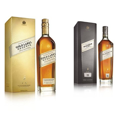 discount duty free Bundle: Johnnie Walker Gold and Platinum Label Reserve Blended Scotch Whisky 70cl
