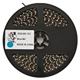 Smile Panda プロ仕様 強力粘着両面テープ 12V LEDテープ SMD 3528 600連 5m 青 ブルー 黒ベース 正面発光 ハンダ付不要 両端配線済 防水 IP65 切断可能