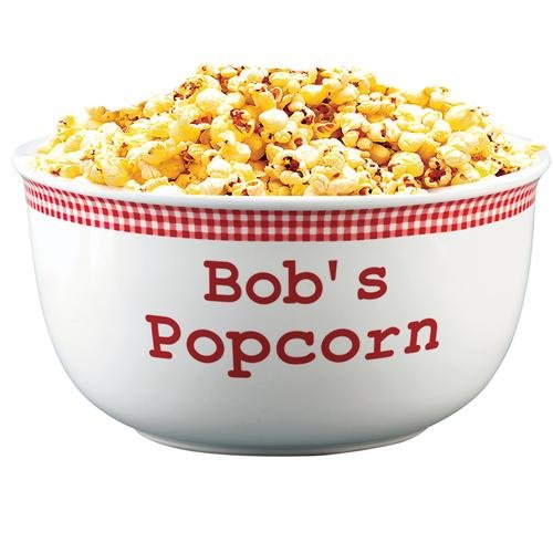Personalized Red Gingham Popcorn Bowl - 4 Quart