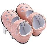 waylongplus Baby Walking de piel sintética infantil Soft Sole Cuna zapatos de Prewalker rosa rosa Talla:11(0-6 Months)