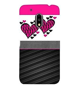 Creative Heart Design 3D Hard Polycarbonate Designer Back Case Cover for Motorola Moto G4 Plus :: Moto G4+ :: Moto G4