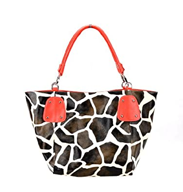 Fash Giraffe Print Hobo Handbag Black Handbags Amazon Com